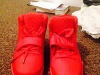 I am offering my replica red October yeezy 2, size 11.