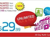 Red Pocket $29.99 Monthly Limitless Talk, Text, & MMS &