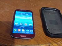 AT&T or straight talk galaxy s3 red in color works
