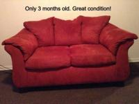 Red sofa and Loveseat for sale in great condition.