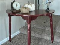 Half Round Sofa Table / Entry Table. One of a kind.  I