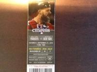 Have tickets to Red Sox - Yankees video game on
