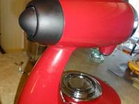 red in color I have a sunbeam mixmaster heritage