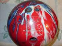 Red,white,& blue swirl color bowling ball. V.I.P.