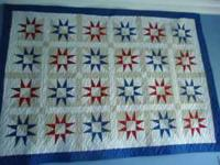 Beautiful machine pieced, long arm quilt wall size
