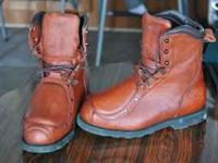 I have a pair of brand new Red Wing leather boots for