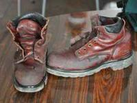Gently used red wing boots for sale, SIZE 10 D. They