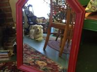 Chalk Painted - Wooden Framed Beveled Mirror $35   show