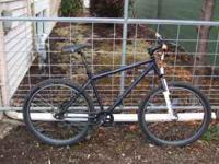 """One Blue Redline Monocog Bike 17"""" frame, Rock Shock"""
