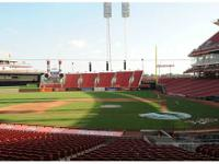 2 tickets for the Reds video game on Sunday, August