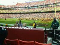 Redskins vs. Detroit Lions ($35 each) Section 138 Row