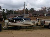 REDUCED $1,200 FIRM  1978 fish/ski boat with trailer!!