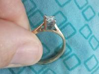 1/5 Carat 14k Diamond Ring Size 7. Clean polished and