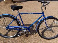 "REDUCED! 1974 SCHWINN MEN'S 26"" RACER CRUISER- BLUE-"