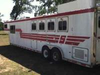 1996 Sooner 4 horse w/16 ft living quarters and