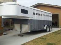1997 Trails West 4 Horse Slant Gooseneck Trailer Solid