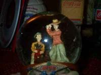 FOR SALE ARE 2 MUSICAL WATER GLOBES FROM 1996 BY