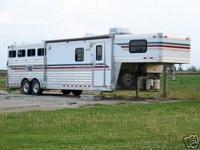 This horse trailer has been used approximately 20