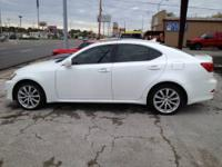 2008 LEXUS IS 250 WHITE,TAN LEATHER,NAVIGATION,HEAT AND