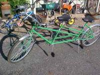 "Here is a rare 1950's 26"" Columbia Tandem bike.It is"