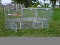 Rabbit cages for sale. 3 total cages with 5 holes. $75
