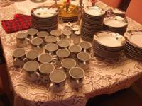 REDUCED 98 PIECES OF TIENSHAN MAGNOLIA FINE CHINA