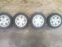 "I have (4) 15"" (5 lug) rims that go on a 2001 Dodge"