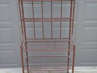 Really nice clean metal bakers rack.  5 shelf unit.