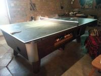 Valley Dynamo Cherry 7ft coin ran pool table w / topper