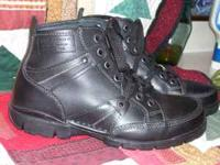 BRAND NEW PAIR OF GBX BLACK LEATHER BOOTS NEVER WORN