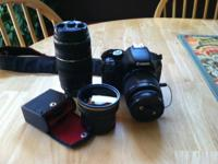 Offering my Canon Rebel T2i 550 D. Comes with the