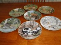 REDUCED PRICE! Seven of a collection of 12 plates, 9?