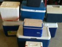 we have 9 coolers for sale, all in good or great