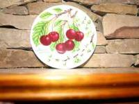 THIS PLATE HAS CHERRY'S ON IT. WAS ASKING $ 8 NOW