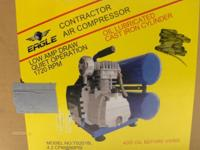 Eagle Air Compressor, Low Amp Draw, Quiet Operation,