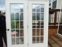 FOR SALE: ASKING $150.00 FRENCH DOORS 5 1/2 FEET BY 82