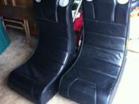 2 GAMING FOLD AWAY CHAIRS WITH SPEAKERS BUILT IN IN