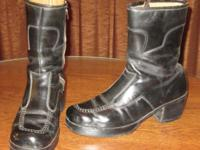 Handmade leather boots purchased while visiting
