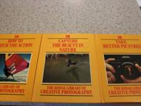 THE KODAK LIBRARY OF CREATIVE PHOTOGRAPHY 3 hard back