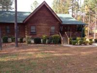 Log home with 3 beds, two bathrooms, large master suite
