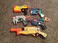 All these Nerf guns work and are in great condition. I