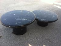 """Low Marble Look Table. $25 Each. 12""""H x 21""""W. 9""""H x"""
