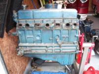 1958 235 Chevrolet Truck engine, partially disassembled
