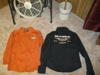 I have 1 Black size Small.......&.......1 Rust Orange