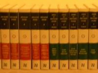 This set contains 10 volumes of the Ante-Nicene