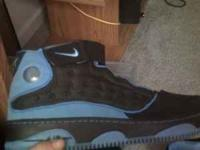 mens size 12 blue and black jordans only worn twice