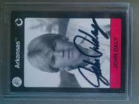 Personally autographed John Daly golf card with The