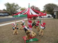 UP FOR GRABS IS A Gemmy HUGE RARE Gemmy 7' HUGE SANTA,