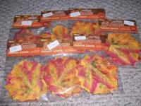 (REDUCED) 7 packages of silk fall leaves only $5.00!! I