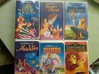 Lot of 6 Disney VHS movies. $3 a piece or $15 for the